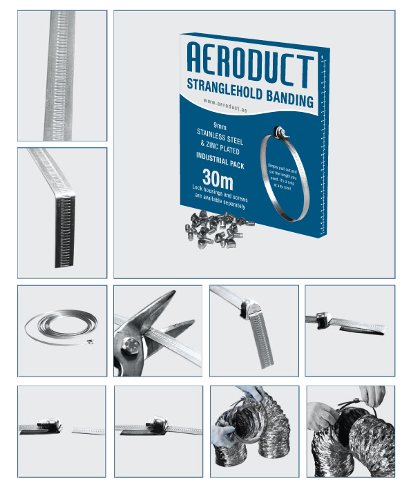 Aeroduct Jubilee Clamp Packaging