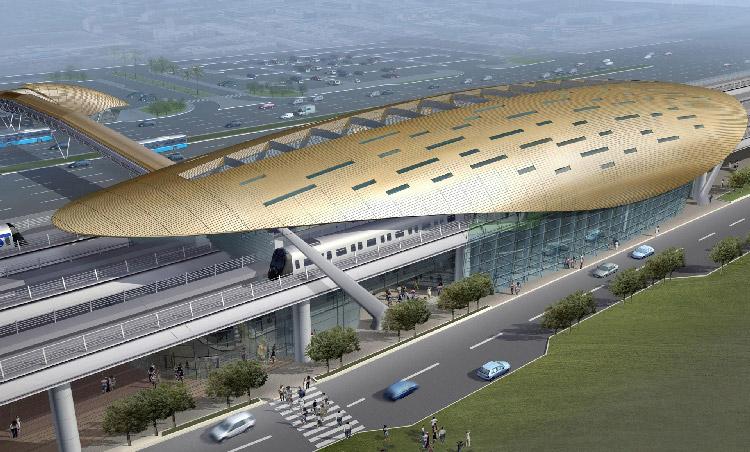 Aeroduct Iconic Project - Dubai Metro
